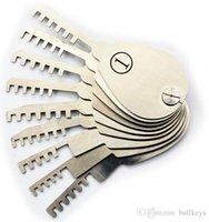 ingrosso set di bloccaggio libero-Vendita calda Spedizione gratuita 9 PZ Double Sided Padlock Picks Door Lock Opener Fabbro strumento