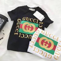 Wholesale fashion boys clothing - 2018 free shipping Boys grils T-shirt Children T Shirts Kids Cotton Boy Clothes Tshirt