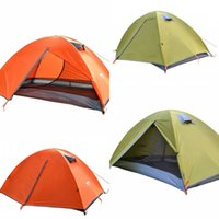 Wholesale two room tents - Outdoor Camping Double Deck Tent Suits Anti Rainstorm And Sun Protection Multitasking Field Shelters Sets Outdoors Sunshade Tool 105ty X
