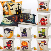 Wholesale decorative anime pillow cases for sale - Group buy Halloween Pumpkin Pillow Case Linen Cartoon Anime Pillowcase Home Sofa Car Decorative Xmas Gifts Without core cm Design WX9