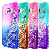 Wholesale quicksand case online - For Samsung S8 Plus Case Luxury Glitter Liquid Quicksand Floating Flowing Shiny Bling Diamond Phone Cases For Samsung Galaxy S8 S8plus