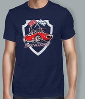 ingrosso stampe auto d'epoca-Maglietta vintage stampata vintage estiva da uomo in corvetta con stampa vintage t-shirt