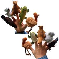 Wholesale animal stories cloth online - 5pcs Cartoon Australian animals Finger Puppet Toy Finger Doll Baby Dolls Baby Toys Stories Props Finger Puppets