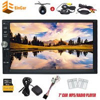 "Wholesale Car Mp5 Audio Player - 7"" Double DIN In Dash Car Stereo MP5 Audio 1080P Video Player GPS Bluetooth FM Radio TF USB SD AUX-in Wrieless RearView Camera"