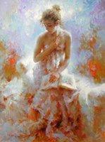 malerei nackt mädchen großhandel-Handgemalte Öl Wandkunst Impressionismus nackte Mädchen Ölgemälde nackte Frau Leinwand Kunst Ölgemälde Wohnkultur einzigartiges Geschenk Kung Fu Kunst