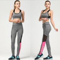 Wholesale Leggings Size L - women sporting leggings pink print Sexy Yoga Fitness Printing Leisure Sport Leggings Stitching Pants Tights women pant KKA3668