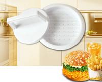 hamburger burger basın toptan satış-DIY Hamburger eti Basın Aracı Patty Makineleri Et Burger yapımcısı Kalıp Gıda Sınıfı Plastik Hamburger Presi Burger yapımcısı