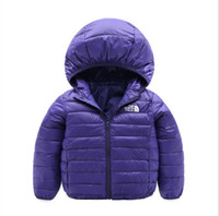 Wholesale parkas baby boy winter resale online - brand face north Baby Winter Jackets Light Kids White Duck Down Coat Baby Jacket for Girls Boys Parka Outerwear Hoodies Puffer Coat