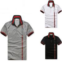 Wholesale Luxury T Shirt For Men - 2018 New Men's G***I short sleeves polo shirt 8958 T-shirt Embroidery Polo Shirt For Men luxury Polo Men Cotton Short Sleeve shirt