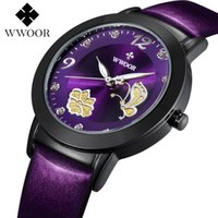 relógio de quartzo flor das senhoras venda por atacado-Lady amor flor senhora pulseira de couro relógio de alta qualidade relógio de quartzo 8822