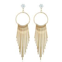 tibetische goldohrringe großhandel-Gold Tropfen Ohrringe für Frauen Mädchen Vintage tibetischen Metall Quasten baumeln und Kronleuchter Ohrringe Modeschmuck Großhandel - 0809WH