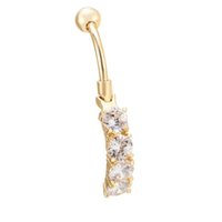 Wholesale fake gold chains - Charming Body Jewelry Piercing Fake Dangle Women Sexy Belly Button Ring