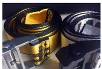 Wholesale fashionable belts - aaa with box 2018 new fashionable high quality canvas belt designer brand men's leisure multi-colored canvas off belt men and women.