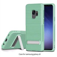 Wholesale iphone case draw - Armor Case Drawing tpu with kickstand feature tpu back cover case for samsung galaxy s9 s7 s8 plus iphone X 8 note 8