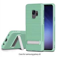 vaka özellikleri toptan satış-Zırh Case Çizim tpu kickstand özelliği ile tpu arka kapak kılıf samsung galaxy s9 s7 s8 artı iphone X 8 not 8