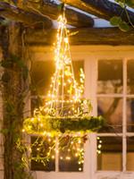 cortina de luz 12v venda por atacado-À prova d 'água 12 V 1.5 M 200LED Cortina Corda Fada Luz Videira Fio De Cobre Decoração da árvore de Casamento de Xmas com EUA Adaptador