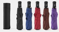 iş şemsiyeleri toptan satış-Katlanır Tam Otomatik Şemsiye Rüzgar Geçirmez Yağmur Oto Lüks Büyük Şemsiye Iş Şemsiye Beş Renkler Yaratıcı Hediye