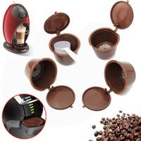 Wholesale tool for engraving - 2Pcs Set Coffee Capsule With PC Plastic Spoon Times Reusable Compatible Tools For Nescafe Dolce Gusto Kitchen Accessories