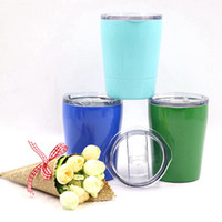 Wholesale Stainless Steel Tumbler Vacuum Insulated Water Bottle Colorfu Bilayerl Wine Tumblers Coffee Mugs with Straws Lids SSC9