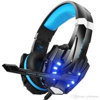 micro juegos pc al por mayor-G9000 Gaming Headset Auriculares para juegos Auriculares para juegos con micrófono con micrófono Para PC portátil Playstation 4 casque