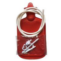 heiße flaschentasche großhandel-2000ml Wärmflasche Toilettenartikel Spritze Einlaufbeutel Duschreiniger Einlauf Anal Vagina Reinigungsset Mit Wärmflasche Duschbeutel Pumpe