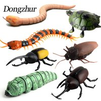 Wholesale Dongzhur Kids Toys Infrared RC Remote Control High Simulation Animal Cockroach Spider Insect Induction Toys Mischief Funny