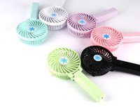 Wholesale black electric fan - Handy Usb Fan Foldable Handle Mini Charging Electric Fans Snowflake Handheld Portable For Home Office Gifts RETAIL BOX