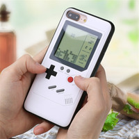 Wholesale iphone plus game case online - Tetris Game Phone Case For iPhone X XS Soft Edge Game Console Back Cover For Iphone Plus