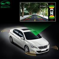 video girişi oynatıcı toptan satış-GreenYi 2 Video Girişi Araba Park Sensörü Sistemi, Ön ve Arka Kamera Monitör için Çift Kanal 8 Sensörleri ile DVD Oynatıcı