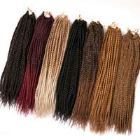 ombre haarverlängerungspackung großhandel-VERVES 18 inch Crochet Hair Extensions 22 Stränge / Pack Ombre Flechten Haar Zöpfe Box Zöpfe Haar Synthetisch