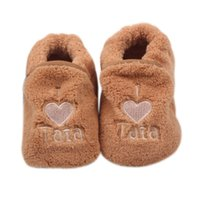ingrosso pattini molli del panno morbido-Ragazzi Bambina bambino Walker Cotton Coral Fleece Skid-Proof Soft Sole Toddler Baby Shoes 0-1 Year