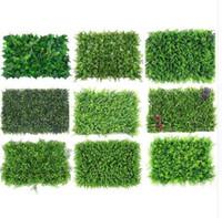 ingrosso copertura artificiale-Pianta artificiale della barriera dei pannelli artificiali verdi decorativi della pianta artificiale per la decorazione dell'iarda del giardino domestico