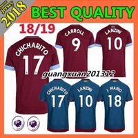 Wholesale west home - 2018 2019 new West Ham United home soccer Jersey 18 19 Thai quality CHICHARITO CARROLL SAKHO AYEW Football jerseys shirt