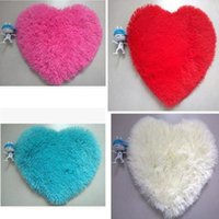 Wholesale heart rugs - 40*50cm Carpet Heart Shaped Chenille Fluffy Bedroom Rug Living Room Coffee Table Wool Carpet Heart Mats Carpet Floor Home Bath Mat