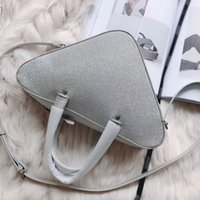 Wholesale ladies big handbags sale for sale - Group buy Sliver big triangle brand designer fashion luxury ladies handbag women shoulder bags crossbody size x18cm hot sale