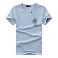 Wholesale Wholesale Slim Fit T Shirt - Night Owl Printing T-Shirt New Fashion Summer V-neck T Shirt Casual Short Sleeve Slim Fit Tee Wholesales