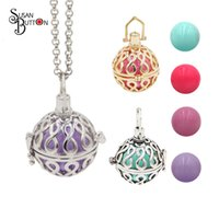 """Wholesale harmony ball wholesale - Newest""""8""""Style Angel Caller Floating Locket Cage Sound Music Ball Pendant Harmony Ball Locket Necklace for Pregnant Jewelry"""