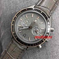 Wholesale geneva chronograph watches - Fashion Brands Men Luxury For Dial GREY SIDE OF THE MOON Quartz Chronograph Gold Geneva Watch Limited Edition Sport Reloj Watches Wristwatch