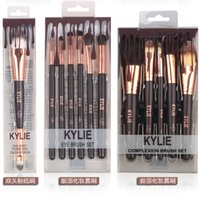 plata vip al por mayor-kylie Jenner cosmetics Set de pinceles de belleza Nake Paletas de sombras de ojos Foudation Pinceles de maquillaje High Tech Make Up Tools