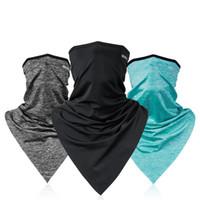 kadın maske kapağı toptan satış-Buz Eşarp Yaz Güneş Koruyucu Boyun Sihirli Başörtüsü Erkek Kadın Balıkçılık Havalandırma Sürme Yüz Hood Çok Fonksiyonlu Maske 30lk bbWW