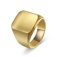 edelstahl-ring großhandel-18mm Breite Einfache Quadratische Ring Edelstahl Band Ringe Silber Schwarz Gold Farbe Männlichen Ring Schmuck Fingerringe Für Männer Designer Schmuck