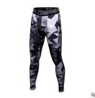 Wholesale dark orange leggings - Mens Joggers Camouflage Compression Pants Men Camo Pants Tights Leggings Crossfit Trousers Brand Clothing Sweatpants Pantalon