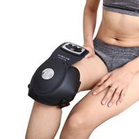 masajeador de vibración infrarroja al por mayor-Dispositivo de fisioterapia de rodilla Fotón terapia Masajeador Infrarrojo lejano / Calefacción / magnético / Vibración cuidado de las articulaciones almohadillas maestras Voltaje universal