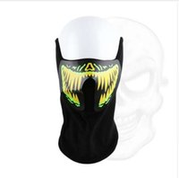 Wholesale rave halloween costumes - 1pc Fashion Wire LED Halloween Easter Rave Mask Luminous Costume Mask Party Easter Decor Gift