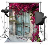 Wholesale vinyl backdrop door - Peeling vintage Door wedding photo background advertisement vinyl photography backdrop F-2441