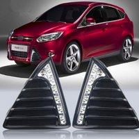 ford führte nebelscheinwerfer großhandel-Glänzendes Tagfahrlicht LED Car DRL mit abschalt- und dimmbarem Funktionskoffer für 2012 Ford Focus 3, Nebelscheinwerfer