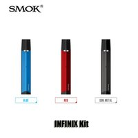 Wholesale vape smok - 100% Original SMOK INFINIX Kit Built-in 250mAh Battery 2ml Cartridge Atomizer Vape AIO Air-Driven Pod Kit Smoktech
