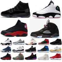 ingrosso nero nero 11s-Nike jordan retro jordans shoes 11 13 12 4 1 5 11s 13s 12s 4s 1s 5s Vendita a buon mercato 13 IV Scarpe da basket Sport scarpe da tennis da uomo 13s BLACK MOTORSPORT GAME ROYAL BLUE Scarpe da basket