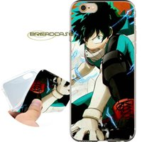 Wholesale iphone 4s clear silicone case - Coque My Hero Academia Shell Cases for iPhone 10 X 7 8 6S 6 Plus 5S 5 SE 5C 4S 4 iPod Touch 6 5 Clear Soft TPU Silicone Cover.
