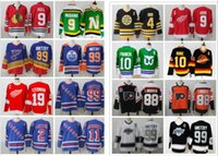 new york los angeles großhandel-New York Rangers Wayne Gretzky CCM Hockey St. Louis Blues Los Angeles Könige Vintage Eric Lindros 10 Pawel Bure Mike Modano Borry Orr Trikots